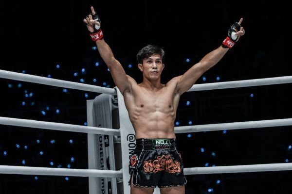 Vietnam's own Nguyen Tran Duy Nhat stands in the ring for his Muay Thai bout