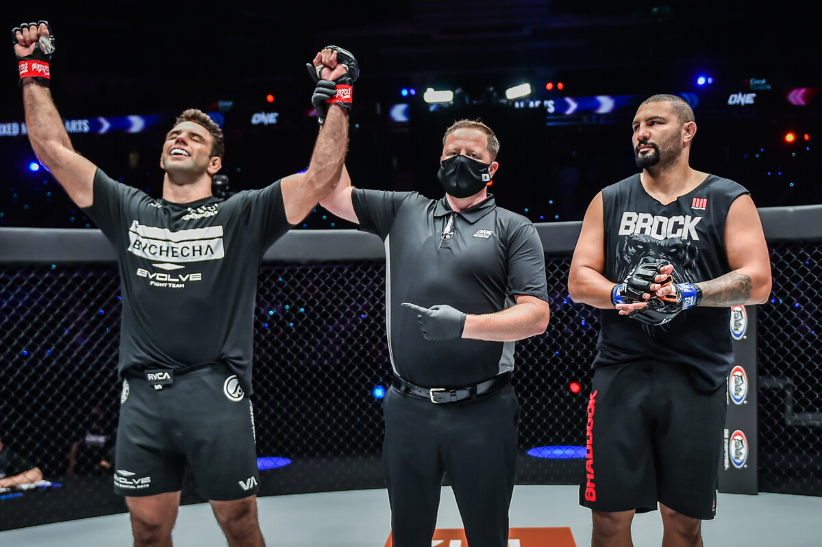 Pictures from the MMA fight between Marcus Almeida and Anderson Silva at ONE: REVOLUTION