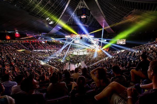 Inside the Stadium Indoor Stadium during a live ONE Championship event