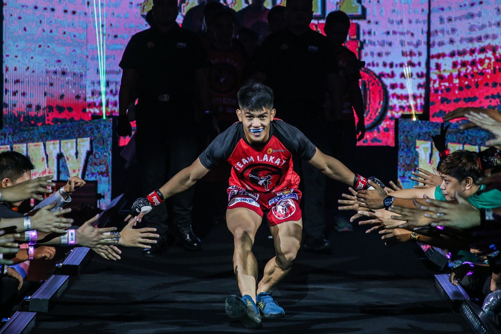Danny Kingad makes his walk to the ring in Manila at ONE: DAWN OF HEROES