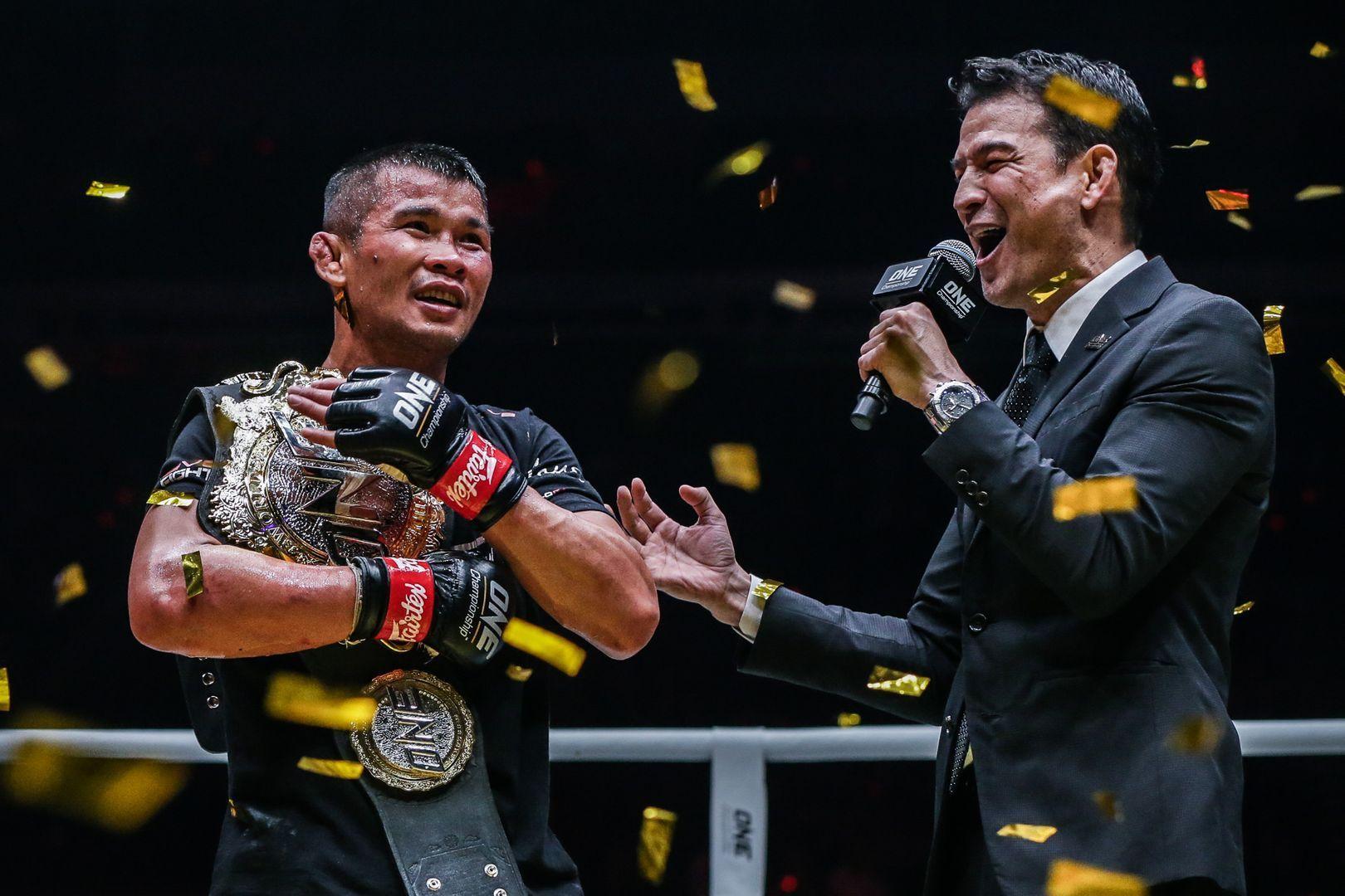 ONE Bamtamweight Muay THai World Champion Nong-O Gaiyanghadao at ONE: EDGE OF GREATNESS