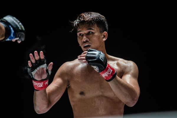 Thai MMA fighter Shannon Wiratchai in his fight stance
