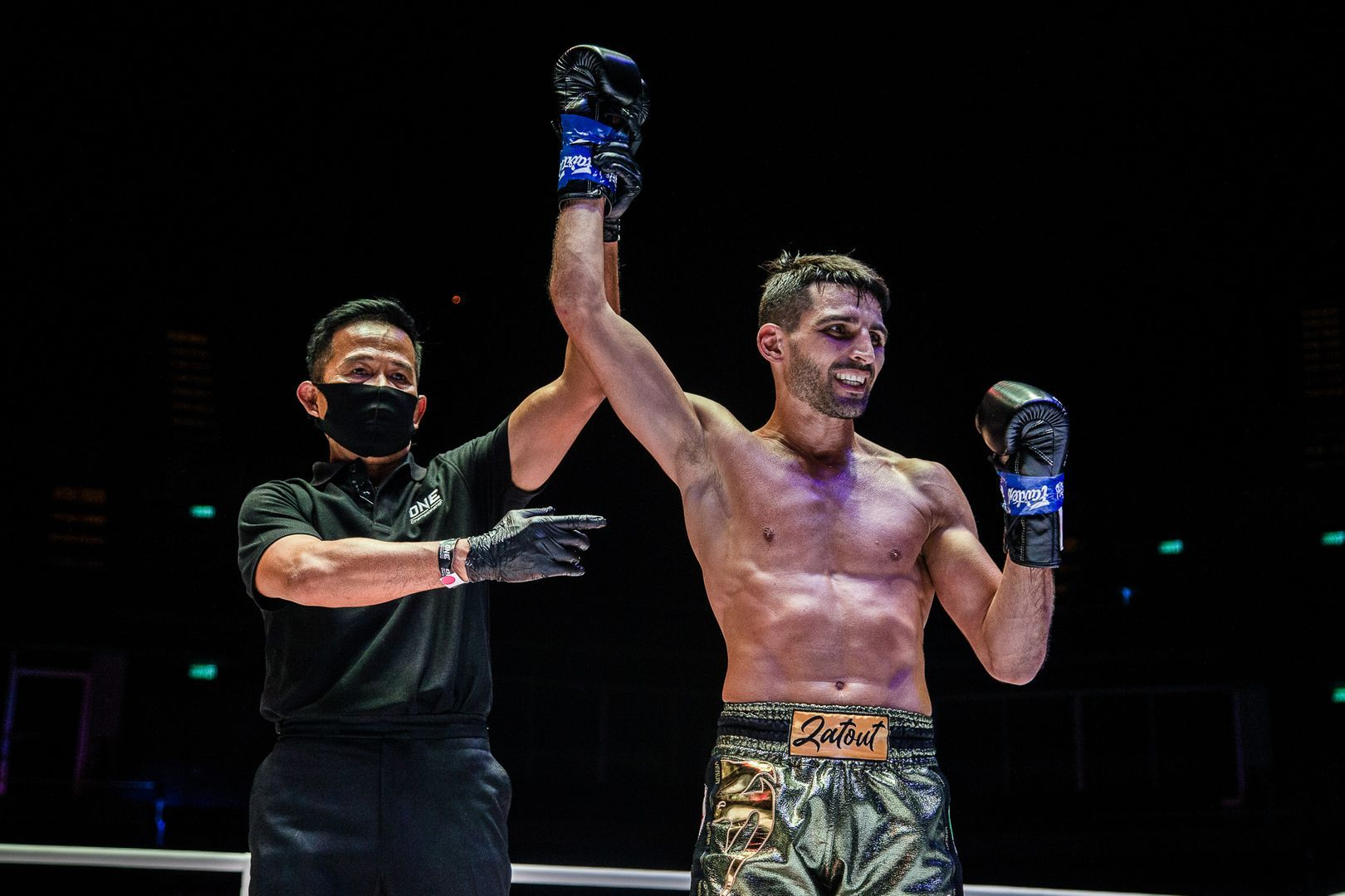 Mehdi Zatout gets his hand raised at ONE: NO SURRENDER II