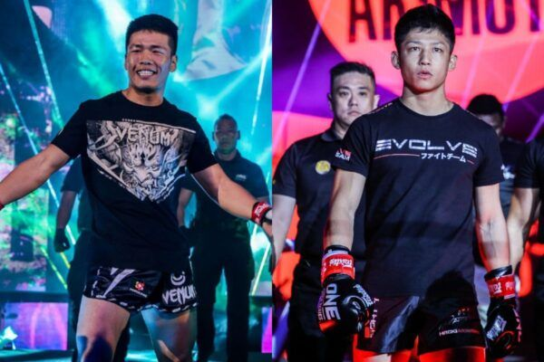 Kickboxing fighters Zhang Chenglong and Hiroki Akimoto main event ONE: REIGN OF DYNASTIES II