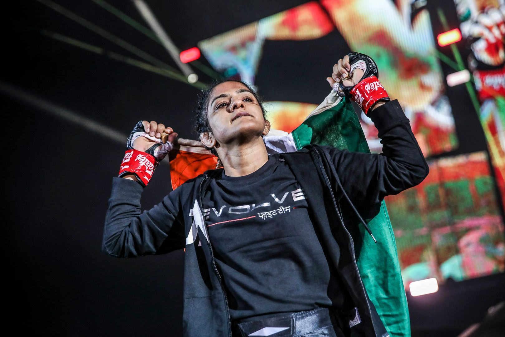 MMA fighters Ritu Phogat and Jomary Torres fight at ONE: BIG BANG in Singapore
