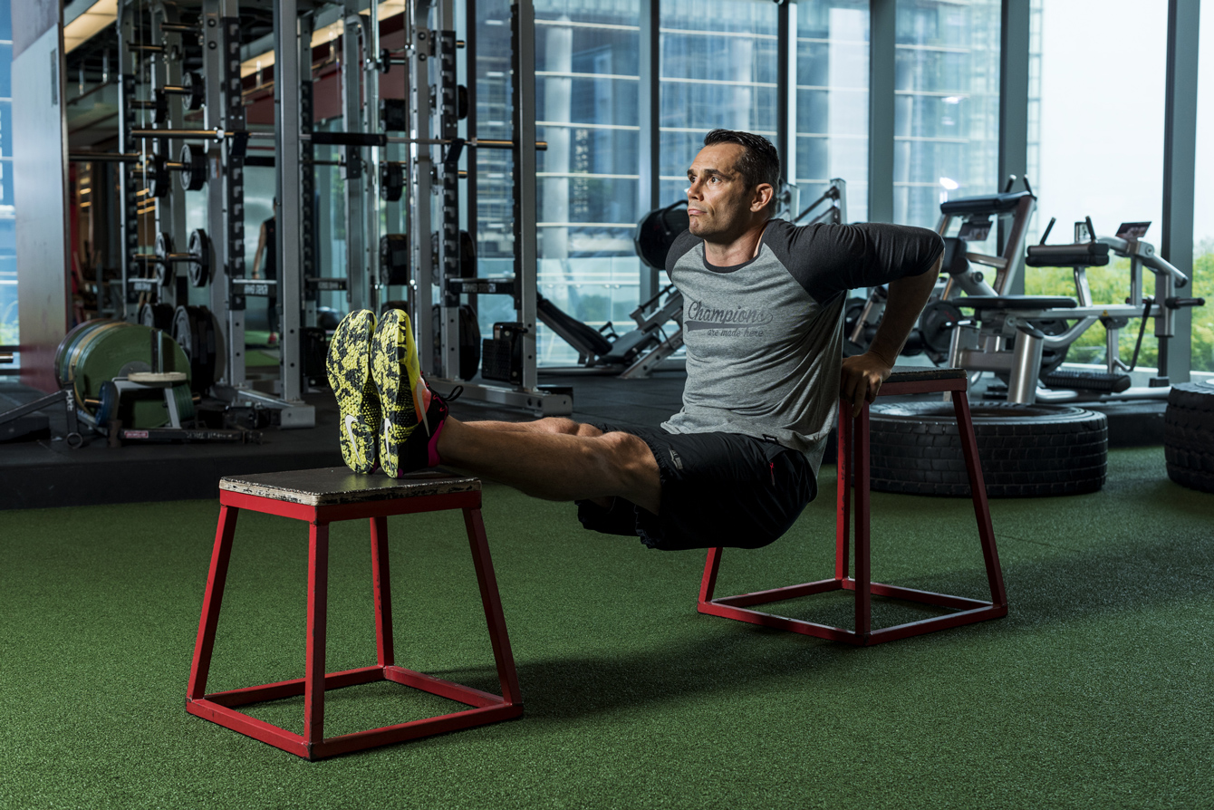 Rich Franklin Tricep Dips