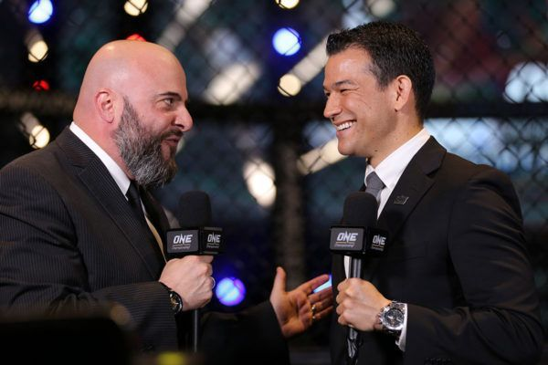 Michael Schiavello and Micth Chilson ONE Championship commenators