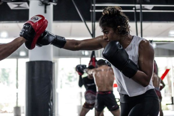 Ritu Phogat training at Evolve MMA
