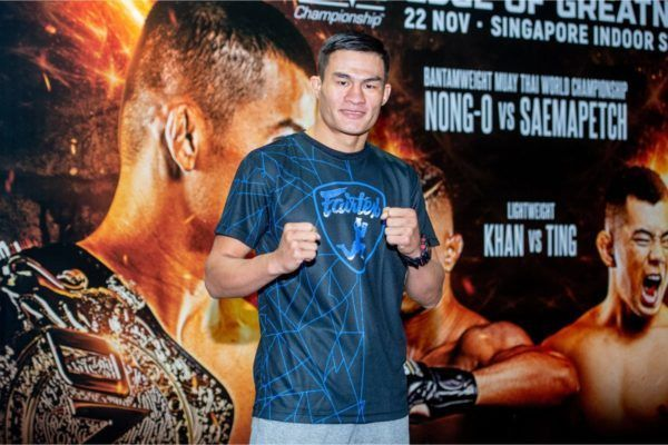 Saemapetch Fairtex at ONE EDGE OF GREATNESS open workout in Singapore