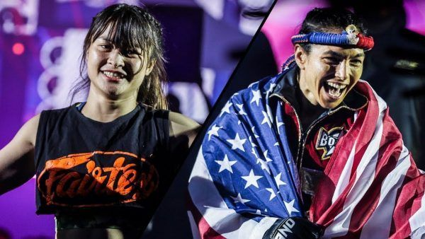 ONE: KING OF THE JUNGLE main event participants Stamp Fairtex and Janet Todd