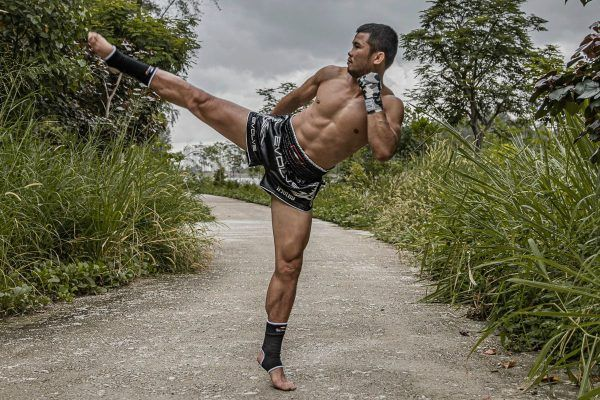 ONE Bantamweight Muay Thai World Champion Nong-O Gaiyanghadao throws a roundhouse kick outside