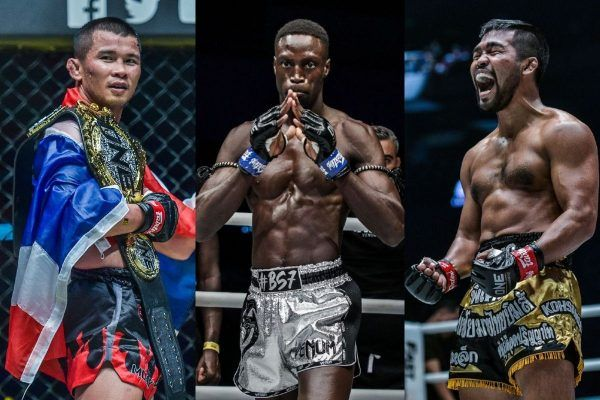 Nong-O, Sacko, and Rodlek in the ONE Bantamweight Muay Thai Division