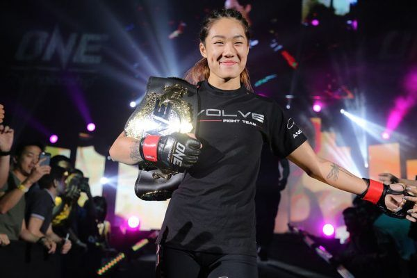 ONE Women's Atomweight World Champion Angela Lee heads to the cage for battle