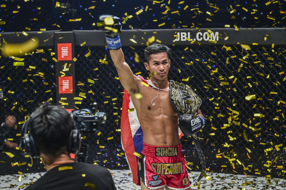 Superbon with the ONE Championship belt